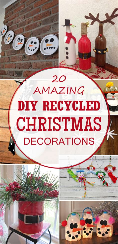 20 Amazing Diy Recycled Christmas Decorations