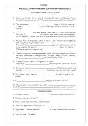 English Worksheets Fill In The Blank With The Future