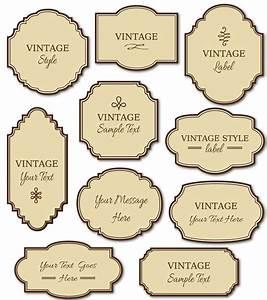 Clip Art  Vintage Labels Pack      Digital Frames      Diy Cards