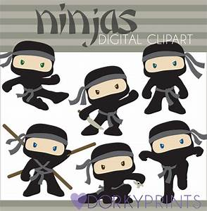 Ninja Clipart Set Personal and Limited Commercial Cute Boy