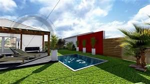 les 58 meilleures images du tableau plans sur pinterest With amenagement petit jardin avec terrasse et piscine 3 creation jardin de ville avec piscine marseille roucas