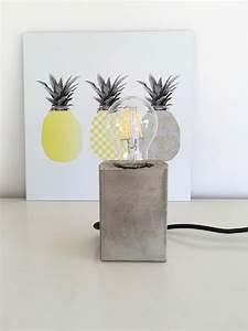 Lampe Mit Zetteln : lampe mit sockel aus beton selber machen hello mime ~ Michelbontemps.com Haus und Dekorationen