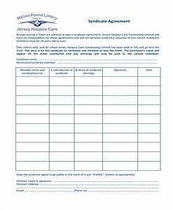 8 lottery syndicate agreement form samples free sample for Group lottery contract template