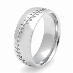 Titanium Baseball Ring Sports Wedding Rings Titanium
