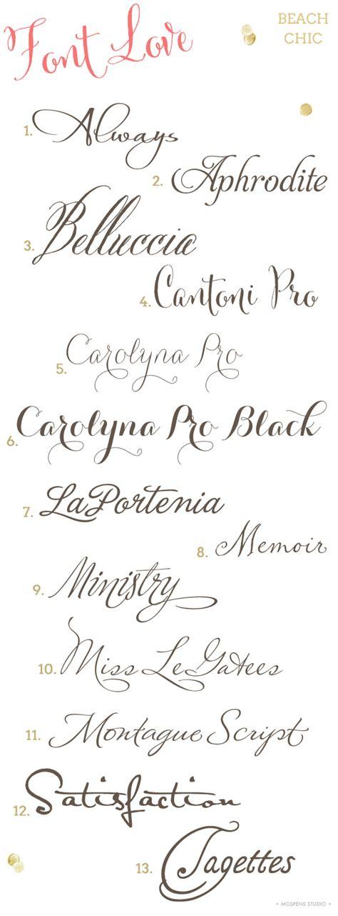 wedding font wedding invitation fonts mospens studio