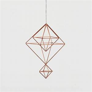 Copper Himmeli no. 6 / Modern Hanging Mobile / Geometric ...