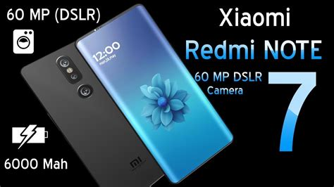 xiaomi redmi note 7 introduction concept 60 mp dslr