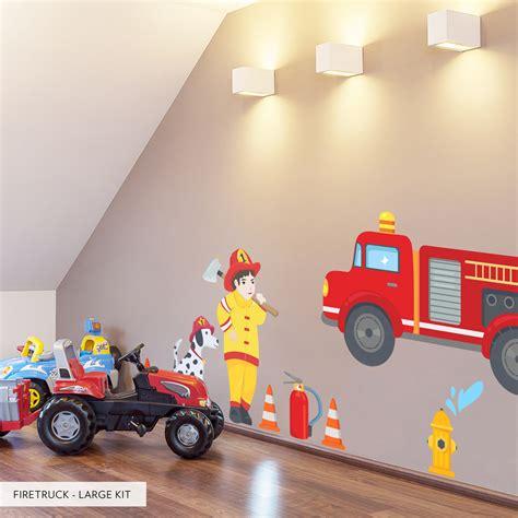 firetruck wall decal childrens wall sticker wallums