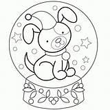 Coloring Snow Snowglobe Globe Globes Dog Neve Globo Puppy Printable Schneekugeln Winter Nieve Bola Sheets Malvorlagen Penguin Bestcoloringpagesforkids Desenho Weihnachtsfarben sketch template
