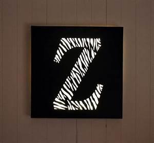 Tableau Lumineux Lettre : tableau lumineux led lettre 39 z comme z bre 39 d coration murale ~ Teatrodelosmanantiales.com Idées de Décoration