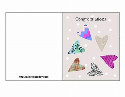 Congratulations Printable Card Template Cards Congratulation Promotion