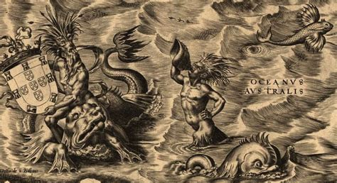 ancient sea monsters cartes anciennes toile