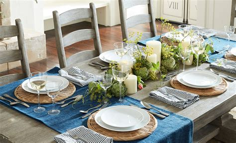 5 Ways To Decorate A Table With A Runner Pottery Barn