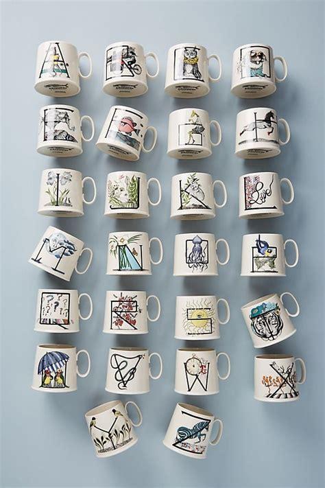 animal alphabet monogram mug  christmas gifts