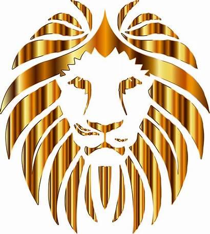 Lion Clipart Golden Background Head Lions Transparent