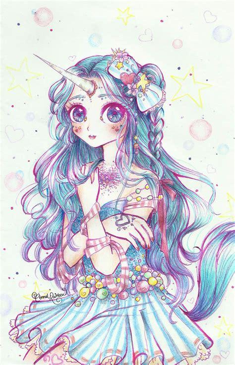 anime unicorn art 30day magical girl drawing challenge unicorn by