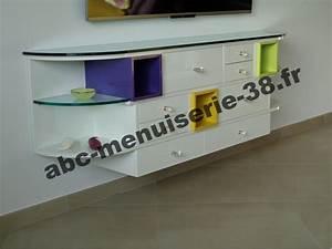 Meuble Tv Arrondi : meuble tv avec bord arrondi ~ Teatrodelosmanantiales.com Idées de Décoration