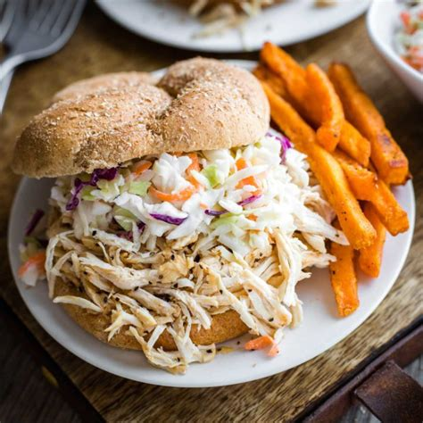 Use your instant pot pressure cooker to make the absolute most mouthwatering, tender and juicy bbq pulled chicken. Carolina-Style Instant Pot Shredded BBQ Chicken Sandwiches ...