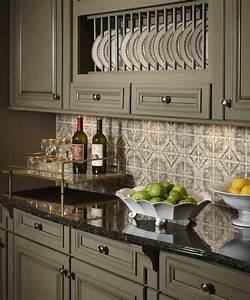 Green kitchen cabinets beautiful kraftmaid cabinets for Kitchen colors with white cabinets with green plant wall art