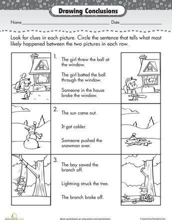 Conclusions And Generalizations Worksheets 5th Grade  Generalizations Worksheets 4th Grade For