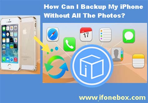 how can i to my iphone back up iphone without photos ios data recovery