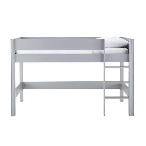 des bureaux en bois lit mezzanine enfant 90 x 190 cm gris tonic maisons du monde