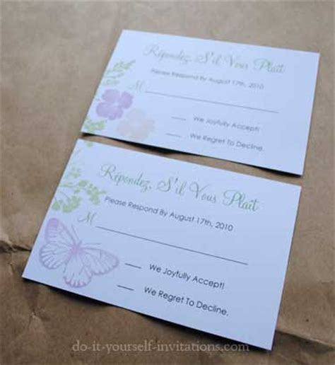 do it yourself wedding invitation cards diy butterfly wedding invitations