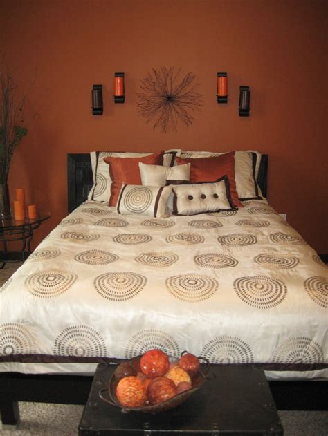sleek orange accents bedroom ideas interior god
