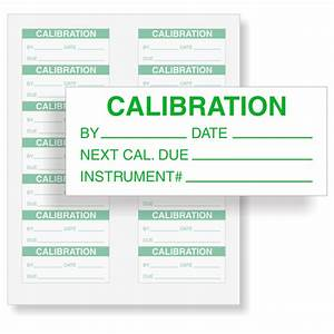 Calibration instrument for Instrument calibration stickers