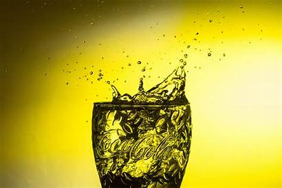 Yellow Liquid Water Drip Font Drop Reflection