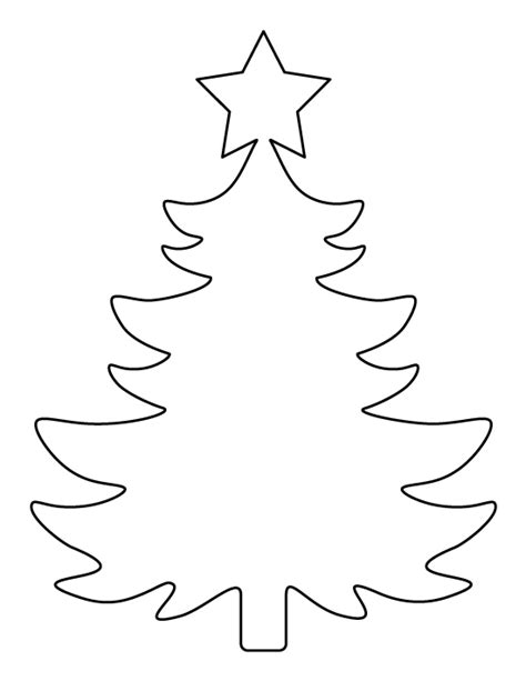 christmas tree patterns to cut out printable large tree template