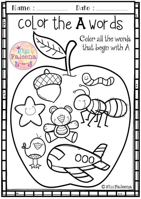 free alphabet letter of the week a teaching first grade preschool worksheets kindergarten