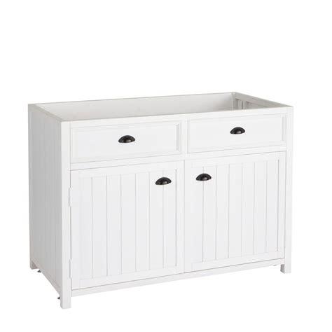 meubles cuisine bas meuble bas de cuisine en pin blanc l 120 cm newport