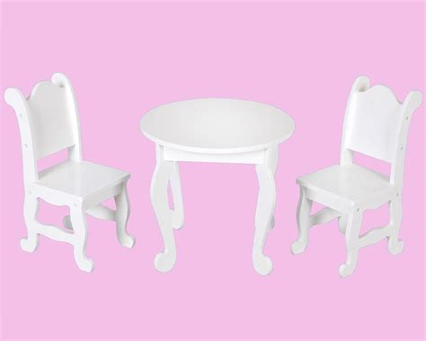 18 doll furniture table and chairs kenyield 18 quot doll furniture table and two chairs
