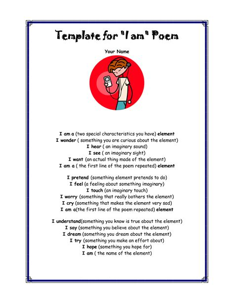 I Am Poem Template Best Photos Of Poem Layout Template I Am Poem Template