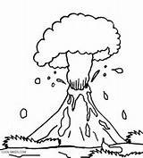 Volcano Coloring Pages Eruption Preschool Explosion Drawing Volcanic Hawaiian Printable Hawaii Islands Cool2bkids Getdrawings Pdf Popular sketch template