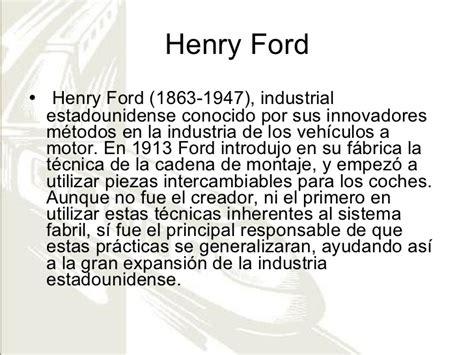 Henry Ford Documental Resumen by Revoluci 243 N Industrial Inventos Personajes