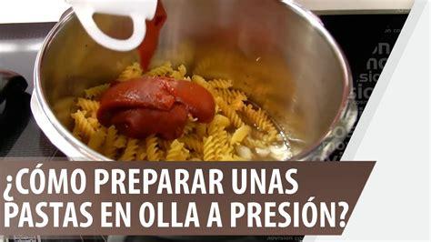¿Cómo preparar unas pastas en olla a presión? YouTube