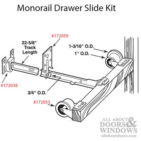 monorail drawer  kit drawer track roller