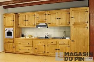 meuble bas 1 porte pin massif pour cuisine avoriaz le With deco cuisine pour meuble en pin massif