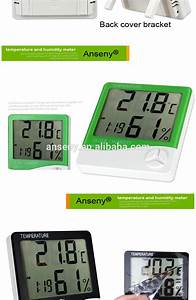 Anseny Htc Digital Indoor Outdoor Thermohygrometer With