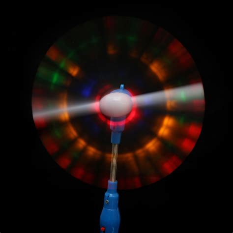 light up spinning light up led rainbow spinning windmill glows