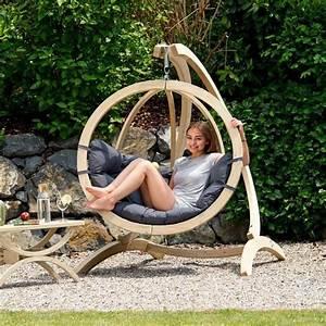 Chaise Suspendue Jardin : chaise suspendue anthracite en bois globo amazonas trendy homes ~ Teatrodelosmanantiales.com Idées de Décoration