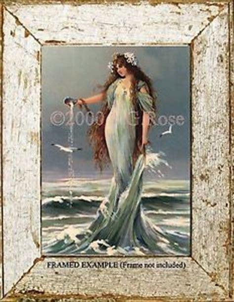 mermaid sea goddess waves seashell vintage antique print ebay