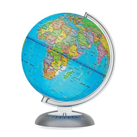 world globe l illuminated world globe stand led light