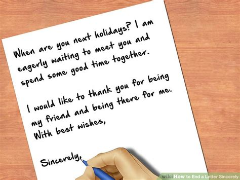 ending a letter how to end a letter sincerely 8 steps with pictures 77448