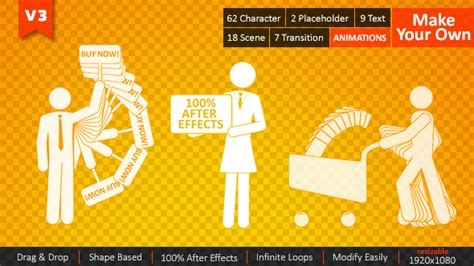 After Effects Product Promo Templates Bobby Character Animation Diy Pack by 18 Cool Character Animation For After Effects Design