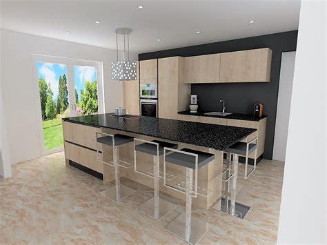cuisine bois moderne cuisine moderne plan de travail bois maison moderne