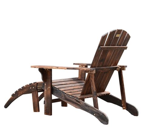 adirondack outdoor patio deck wood lounge chair seat w