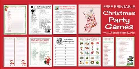 printable christmas party games pack download who wore it best free printable flanders family homelife